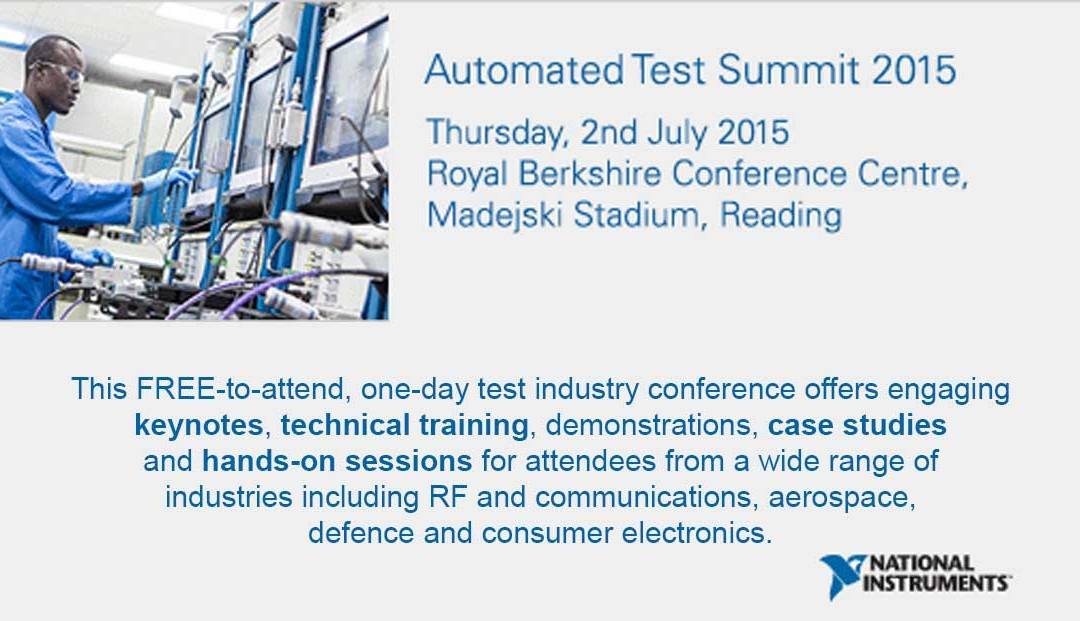 5 Reasons to Attend the NI Automated Test Summit 2015