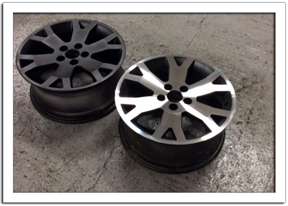 DC1 Diamond Cut Alloy Wheel Before After