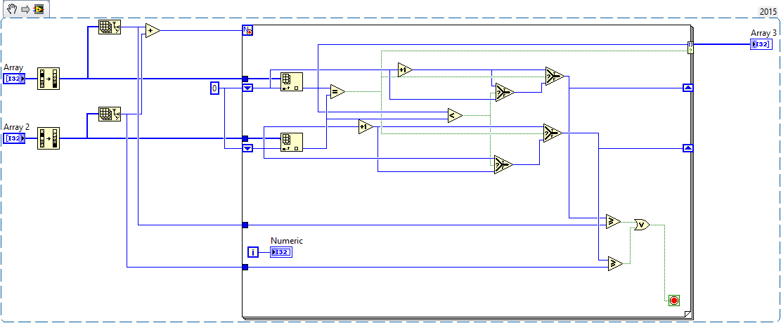 Array in LabVIEW Implementation Code