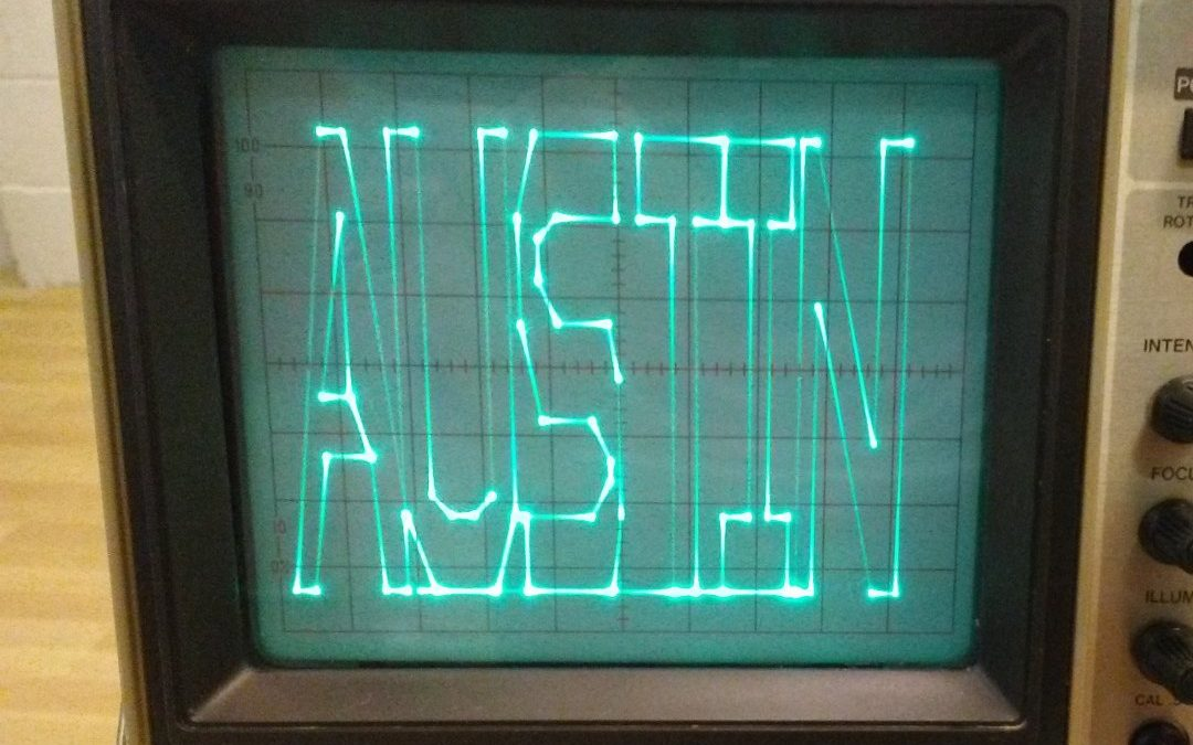 Austin Consultants | Demo text on an oscilloscope using